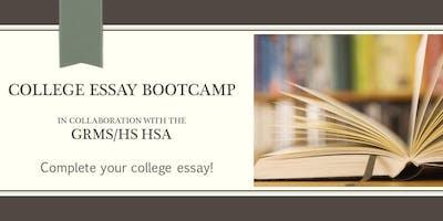 Rising Seniors: College Essay Boot Camp (Session 2)