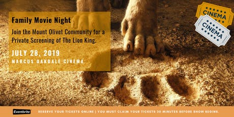 The Lion King Group Screening tickets
