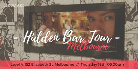 MELBOURNE | Hidden Bar Tour ingressos