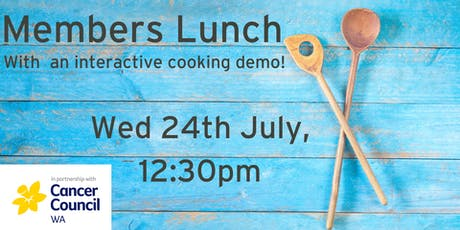 Member Lunch - with interactive cooking demo! tickets