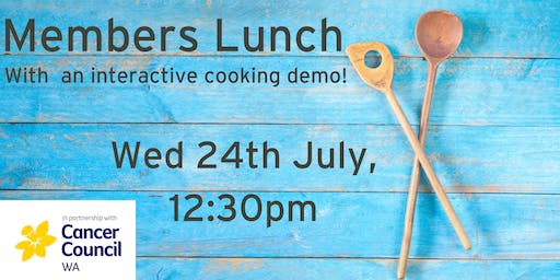 Member Lunch - with interactive cooking demo!