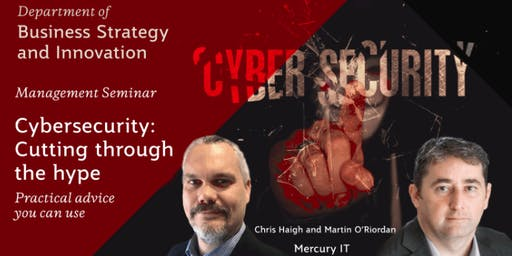 Cybersecurity: Cutting through the hype 17JUL19