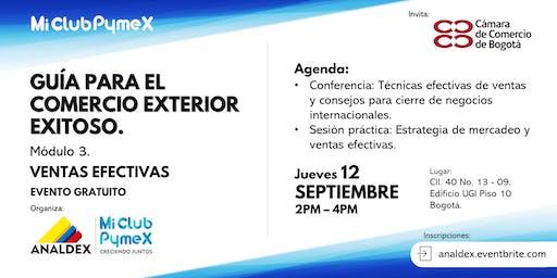 Mi Club Pymex - Exportar: Mod.3 Ventas efectivas