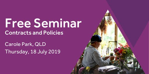 Free Seminar: Contracts and policies – Carole Park 18th July