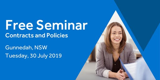 Free Seminar: Contracts and policies – Gunnedah 30th July