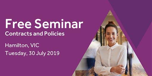Free Seminar: Contracts and policies – Hamilton 30th July