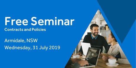 Free Seminar: Contracts and policies – Armidale 31st July tickets