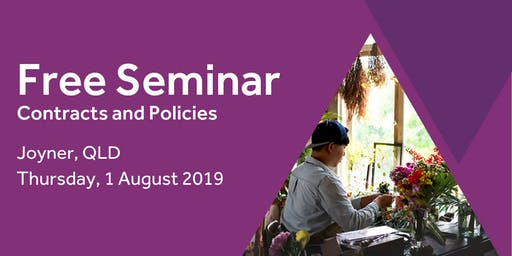 Free Seminar: Contracts and policies – Joyner 1st August