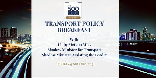 Transport Policy Breakfast with Libby Mettam MLA