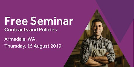 Free Seminar: Contracts and policies – Armadale 15th August tickets