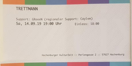 Trettmann Konzert - 2 Karten für 80€ zu verkaufen, (Support: GReeeN) Tickets