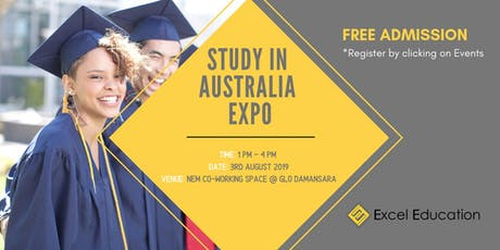 Study in Australia Expo Education Fair 2019 tickets