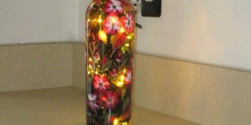 Summer Lighted Bottle Painting Event