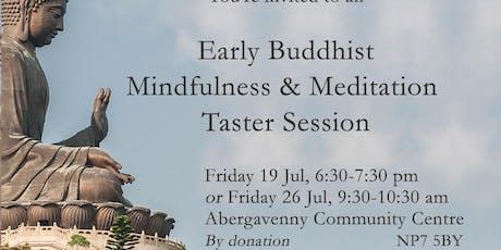 Early Buddhist Mindfulness & Meditation Taster Session tickets