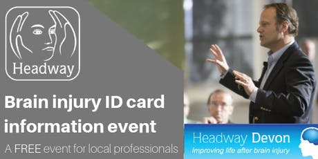 Brain injury ID cards information event tickets