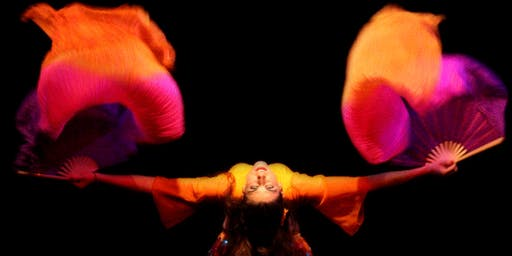 Taller intensivo de danza del vientre con abanicos de seda