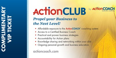 Complimentary ActionCLUB Group Coaching Taster Session