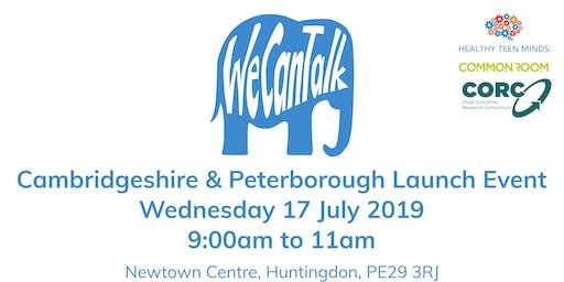 We Can Talk across Cambridgeshire & Peterborough Launch Event