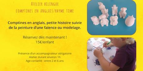 """Atelier Bilingue anglais """"Rhyme Time"""" billets"""