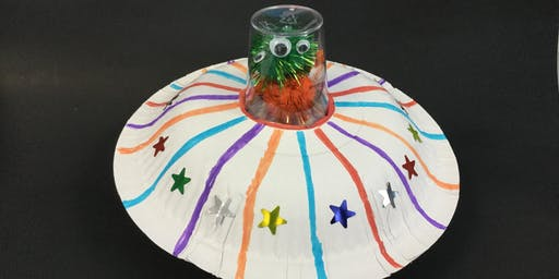Winchcombe Library - Summer Reading Challenge Build A Flying Saucer Craft