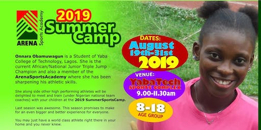2019 ArenaSportsAcademy Athletics Summer Camp