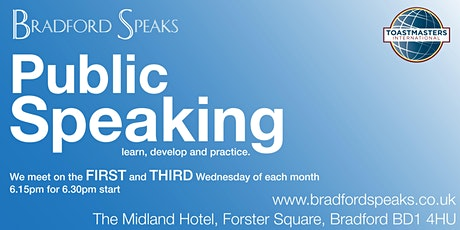 Bradford Speaks - #publicspeaking club tickets