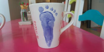 Empreintes sur mug