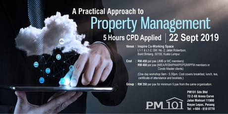PM 101 KL Workshop - A Practical Approach to Property Management tickets