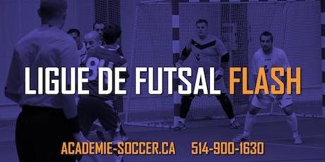 Ligue de soccer Adulte 5 vs 5 (Futsal) - Saison d'Hiver 2019-2020 (20 matchs) tickets