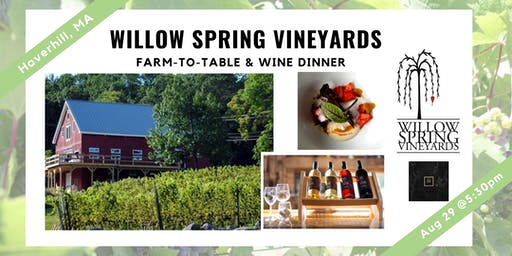 Willow Spring Dinner & Wine Tasting