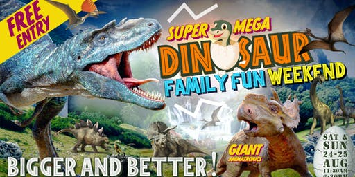 SUPER MEGA DINOSAUR FAMILY FUN WEEKEND!!!  Coming Soon to South Dublin