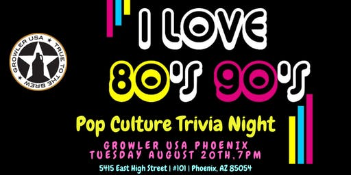 80s & 90s Pop Culture Trivia at Growler USA Phoenix