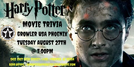 Harry Potter Movie Trivia at Growler USA Phoenix tickets
