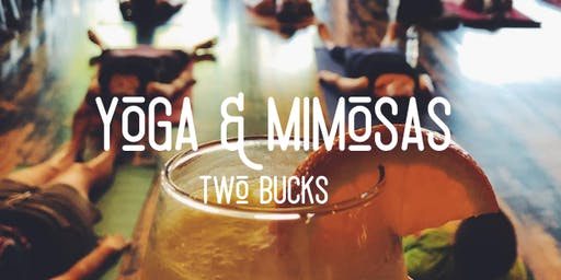 Yoga + Mimosas At Two Bucks, Lakewood!