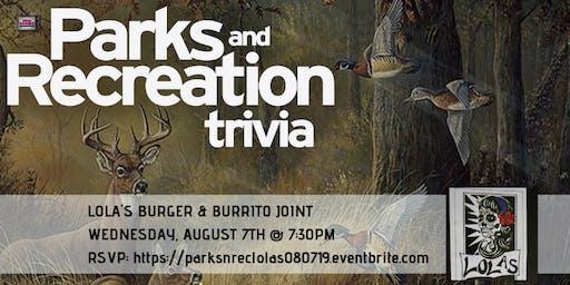 Parks and Rec Trivia at Lola's Burrito & Burger Joint