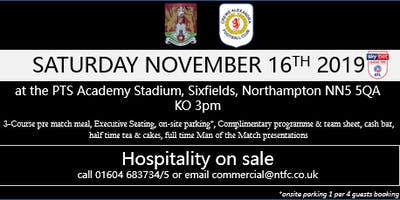 CREWE ALEXANDRA HOSPITALITY AT NORTHAMPTON TOWN FOOTBALL CLUB
