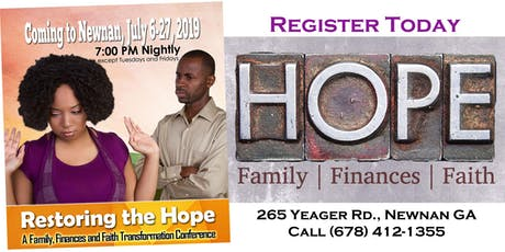 Restoring the Hope: A Life Transformation Conference tickets