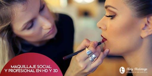 Curso de Maquillaje Social y Profesional en HD y 3D (inscripción)