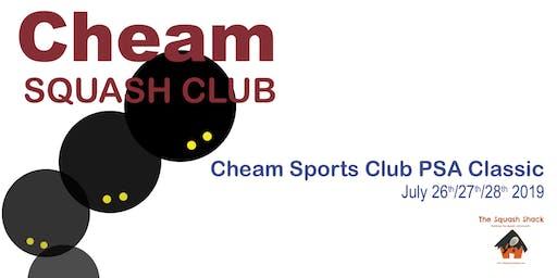 Cheam Squash PSA Event - Saturday 27th July 1:00PM Session - Quarter Finals