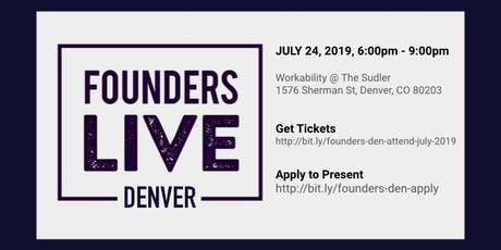 Founders Live Denver - July 2019 tickets