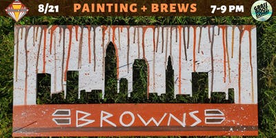 Cleveland Browns | Painting + Brews at Bookhouse Brewing