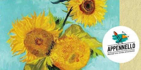 Girasoli e Van Gogh: aperitivo Appennello a Como biglietti