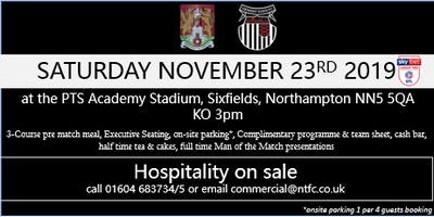 GRIMSBY TOWN HOSPITALITY AT NORTHAMPTON TOWN FOOTBALL CLUB