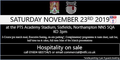 GRIMSBY TOWN HOSPITALITY AT NORTHAMPTON TOWN FOOTBALL CLUB tickets