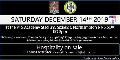 FOREST GREEN ROVERS HOSPITALITY AT NORTHAMPTON TOWN FOOTBALL CLUB