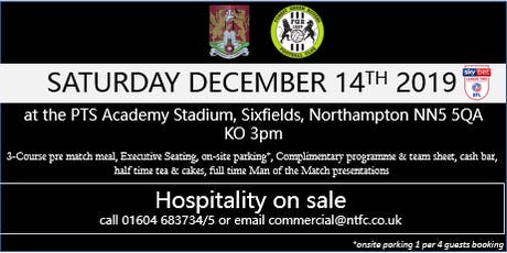 FOREST GREEN ROVERS HOSPITALITY AT NORTHAMPTON TOWN FOOTBALL CLUB tickets