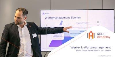 Werte- und Wertemanagement Workshop, Berlin, 05.05.2020