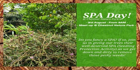 SPA Day! Seedling Protection Activity @Chestnut Nature Park tickets