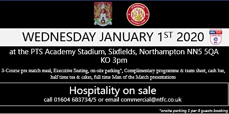 STEVENAGE HOSPITALITY AT NORTHAMPTON TOWN FOOTBALL CLUB