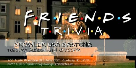 Friends Trivia at Growler USA Gastonia tickets